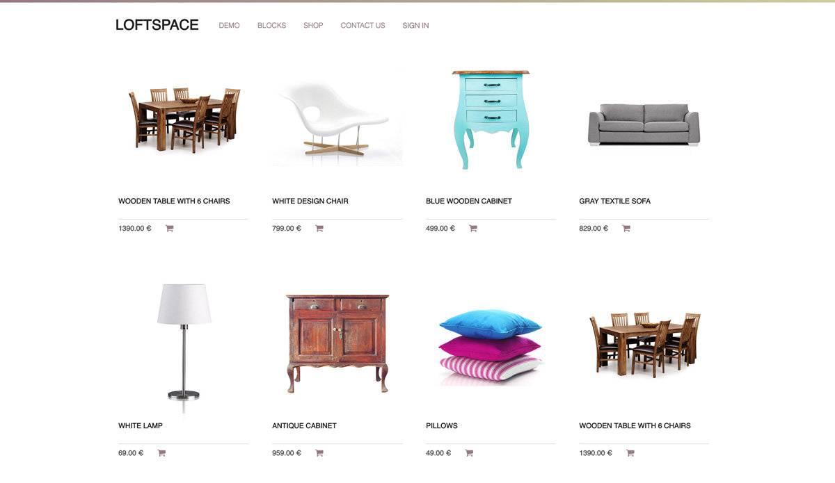 eCommerce - image e-commerce_loftspace on https://jemili.com
